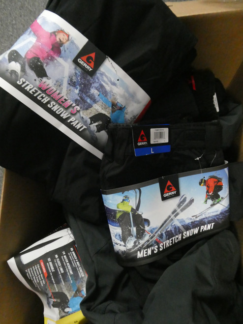 14pc Mens & Womens SNOW PANTS & Lined GERRY Bauer #20388J ()