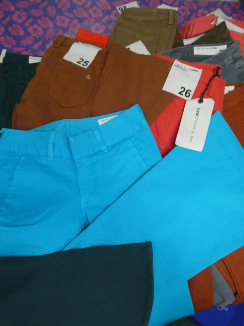 18pc Womens *ONLY rag & bone* Colorful Jeans #20441N (Q-3-4)