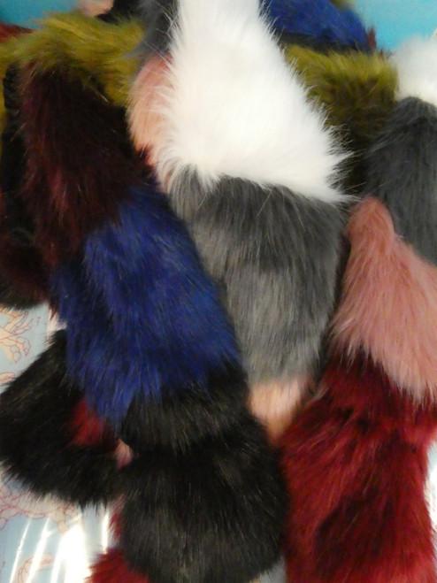 8pc Big Store Womens Faux Fur Scarves #20510R ()