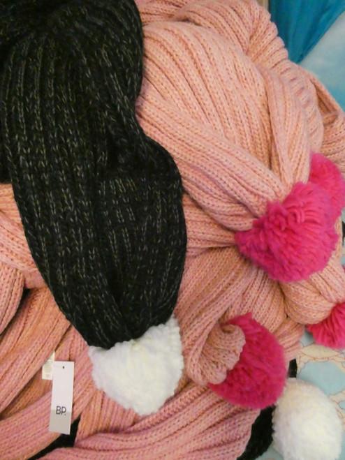 15pc Big Store Womens PomPom Scarves #20511R (H-3-3)