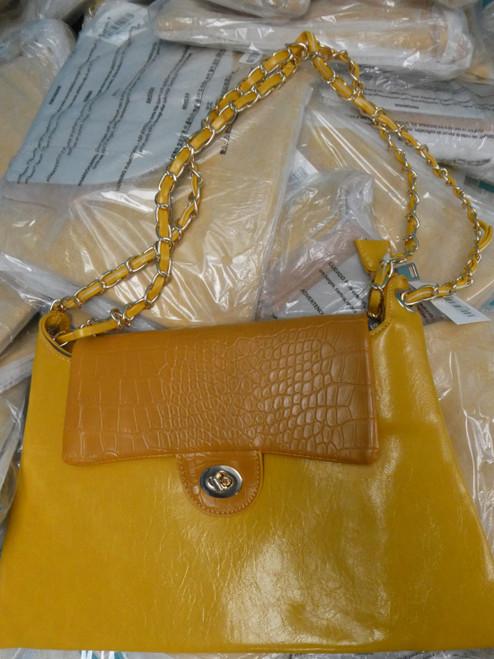 4pc SMALL QUANTITY Faux Leather Chain Strap Shoulder Bag Purse #20623B (B-4-1)