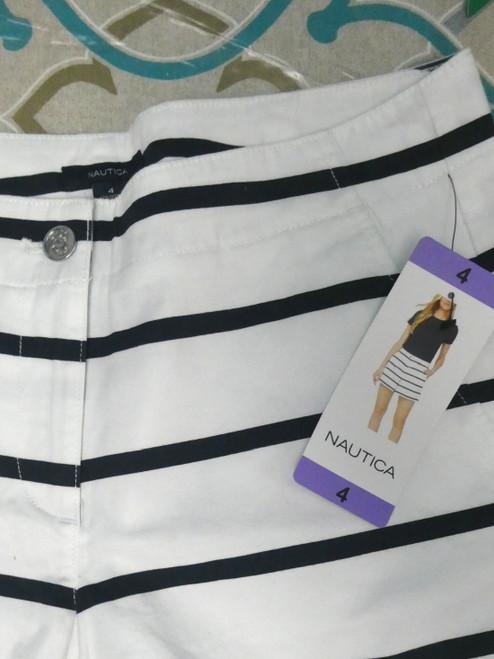 25pc Womens NAUTICA Shorts WHITE #20631c (J-3-2/J-4-2)