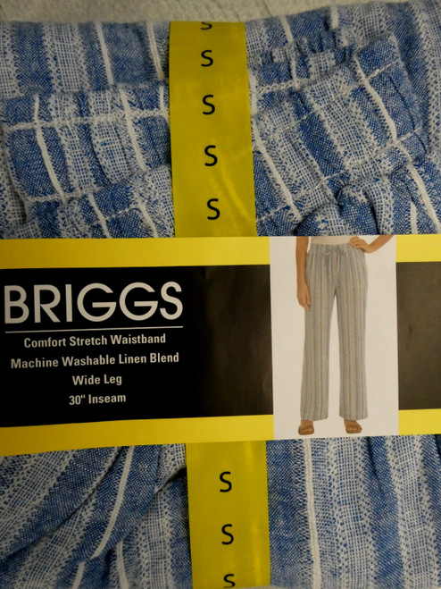 23pc BRIGGS Comfort Waist Cloth Pants BLUE #20632c  (L-3/4-7)