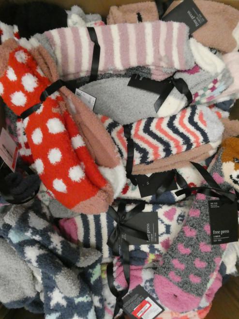 90 SETS = 180prs! Grab Bag Plush Sock SETS #20684F (V-6-5/6/7)