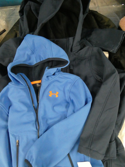 7pc BOYS Jackets Coats UNDER ARMOUR Sovereign Code #20838R (N-2-2)