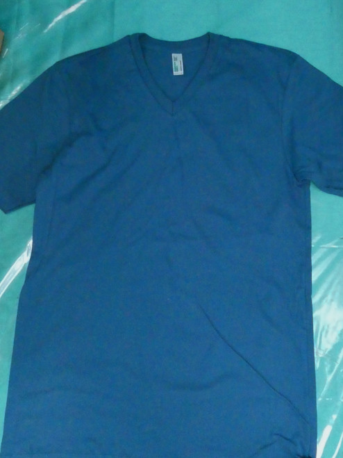 22pc Mens AMERICAN APPAREL Sustainable Tee BLUE Small #20867u (d-5-1)