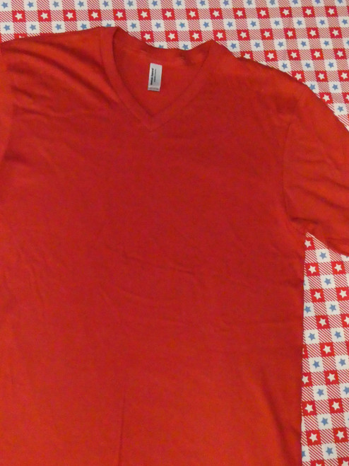 24pc Mens AMERICAN APPAREL Sustainable RED Tees LARGE #20875u (v-4-6)