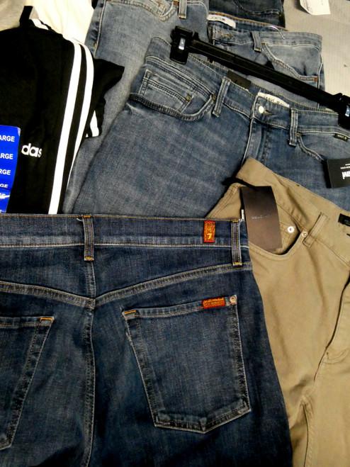17pc MENS eleventy Belstaff AG Joes MAVI 7Mankind NIKE Adidas Pants #20797Q (J-4-5)