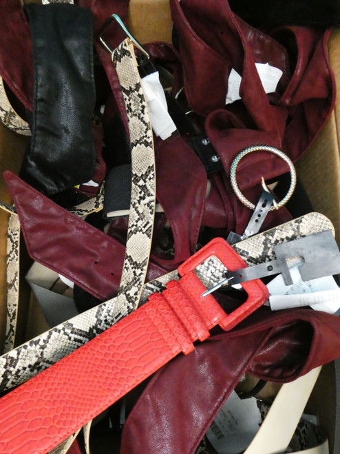 18pc Grab Bag M*CYS Womens Belts KORS CK DKNY Inc Ralph #20903w (m-1-1)