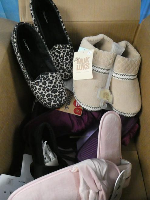 14prs Womens Slippers! MUK LUKS Isotoner & More! #20906w (g-1-6)