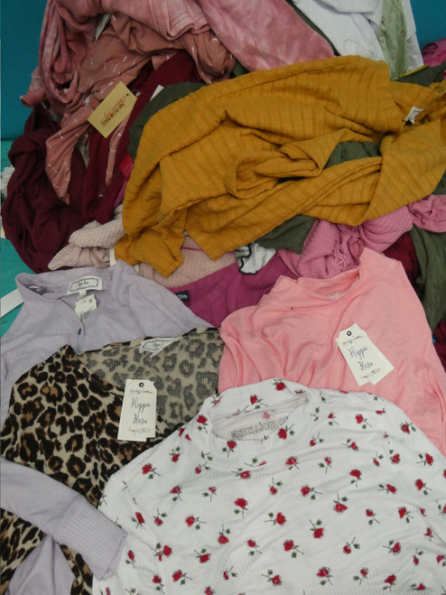 26pc Grab Bag Jrs Long Sleeves HIPPIE ROSE Rebellious FRESHMAN #20915w (E-2-2)