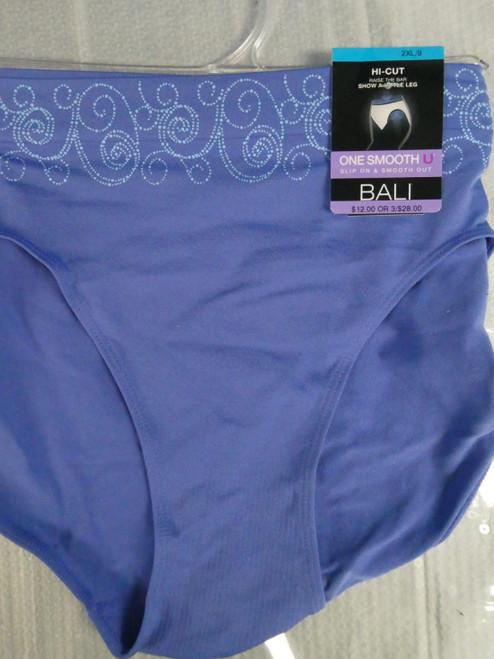 22pc BALI SMOOTHING Panties BLUE Size 8 / XL #20940x (N-5-1)