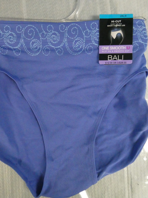 8pc BALI SMOOTHING Panties BLUE Size 8 / XL #20941x (Q-3-5)