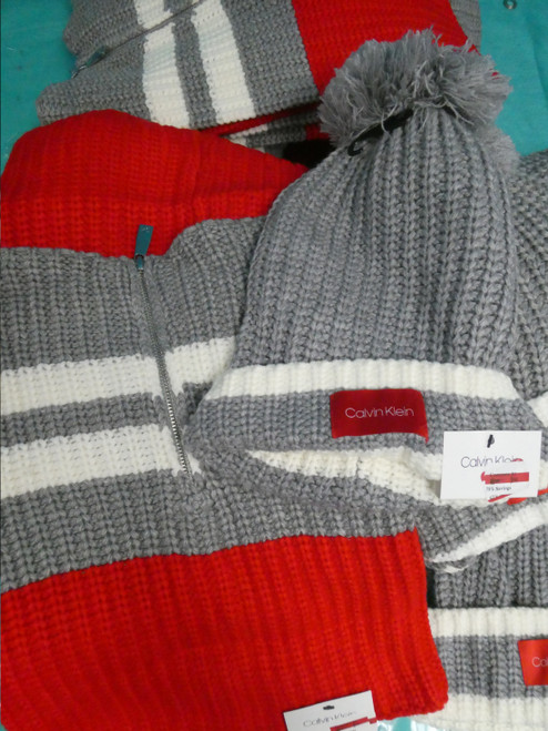 29pc ONLY CK Neck Warmers Hats MIX N MATCH SETS Red Grey #20993A (V-4-5)