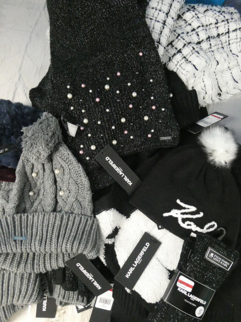 17pc ONLY KARL LAGERFELD Womens Winter Accessories #20998A (e-5-6)