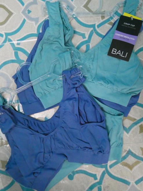 48 SETS =  96pc BALI Bralettes AQUA & BLUE Medium #20946x (Q-2-7/8)