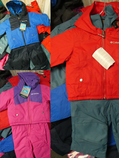 19 SETS = 38pc Kids COLUMBIA Snowsuit COAT Sets #22034J (B-7-6)
