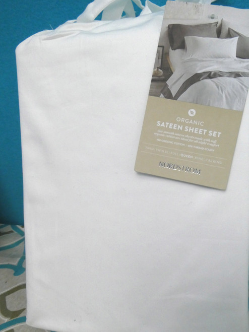 Big Store SIGNATURE Organic Sateen Sheet Set QUEEN #20703G (J-1-2)