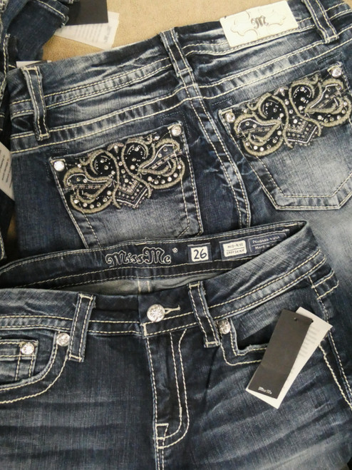 10pc *ONLY MISS ME* BLING & PEARLS Jeans DUPLICATES #22066L (V-1-4)