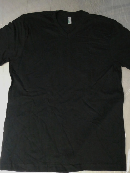 24pc Mens AMERICAN APPAREL Sustainable BLACK Tees LARGE #22109N (C-6-6)