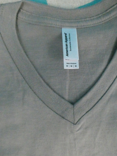 22pc Mens AMERICAN APPAREL Gray Tees MEDIUM #22114N (L-2-2)