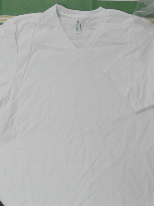 5pc Grab Bag Mens AMERICAN APPAREL WHITE Tees LARGE #22121N (Q-4-4)
