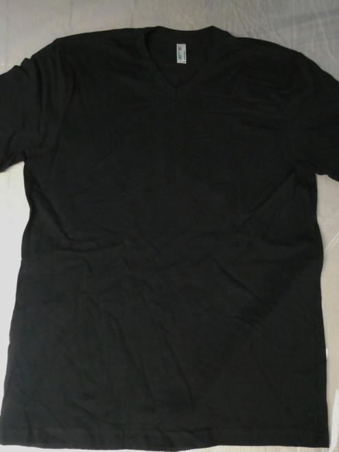 48pc Mens AMERICAN APPAREL Sustainable BLACK Tees XL #22122N (J-3-2)
