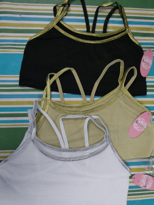 27pc Layered Look Unlined Sports Bras 32A 32B 34A 34B 34C 36B #22276x (J-5-6)