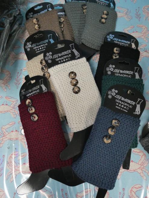 36prs Knit Leg Warmers / Boot Cuff Socks BUTTON DETAIL #22282Y (V-3-1)