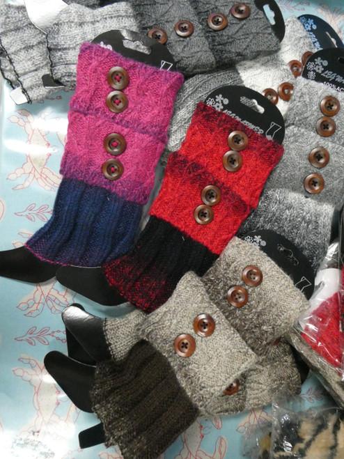 36prs OMBRE Knit Leg Warmers / Boot Cuff Socks #22283Y (V-7-5)