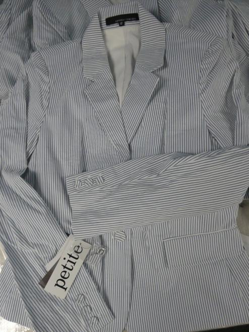 6pc Big Store PETITE Pinstripe Blazer Jackets ALL SIZES #22317z (L-3-6)