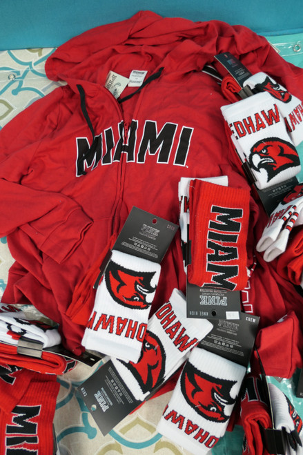 18+pc (33 Total) VS PINK MIAMI FL Zip Hoodies & Sock Sets #22369B (M-2-4)