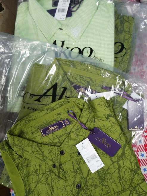 7pc Mens AKOO Button Up Shirts BIG & TALL #22391d (N-4-2)
