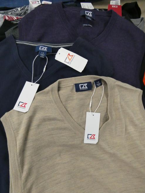22pc Mens *ONLY CUTTER & BUCK* Sweater Vest DUPLICATES #22399d (P-4-6)