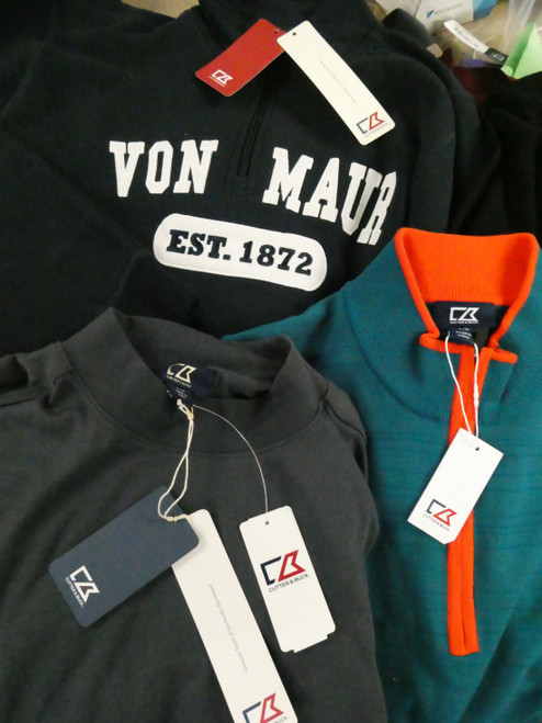 15pc Mens *ONLY CUTTER & BUCK* Polos ZIP UP Hoodies & More #22400d (H-4-6)