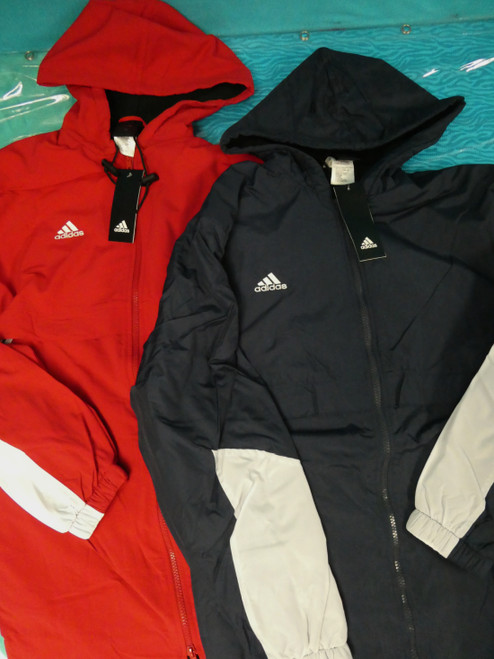 10pc ADIDAS Parka Coats RED & NAVY #22427E (Z-1/2)