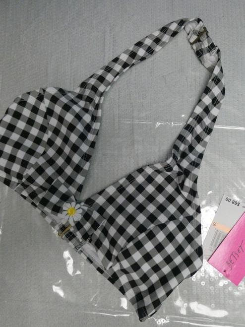 28pc BETSEY JOHNSON Checker Bikini Tops #22443F (y-3-4)