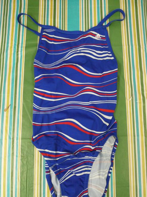 25pc ADIDAS ELEVATE VORTEX One-Piece Bathing Suits BLUE #22447G (y-3-5)