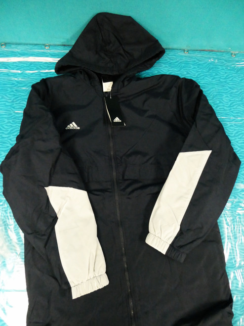 10pc MENS ADIDAS Parka Coats NAVY BLUE XS S XL #22428E ()