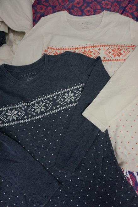 16pc LUCKY BRAND Womens Thermals ~ 2 Colors #22494J (Z-1-5)