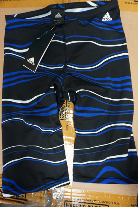 19pc Mens ADIDAS Elevate Jammers Black Blue #22548M (m-2-2)