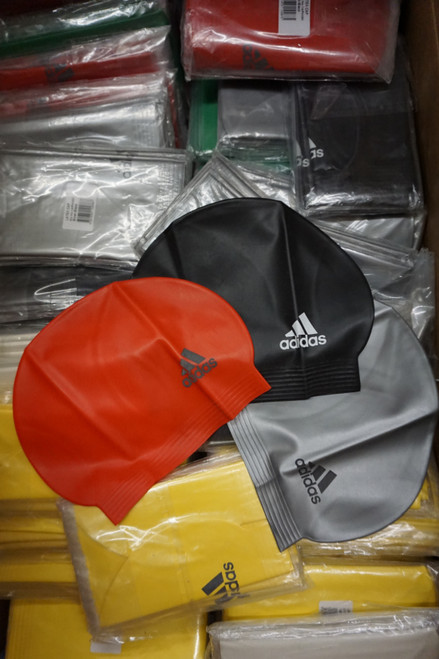 80pc ADIDAS Adult Swim Caps Assorted Colors #22578N (W-1-5)