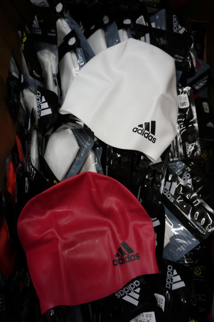 47pc ADIDAS Adult Swim Caps PINK & WHITE #22580N (X-5-5)