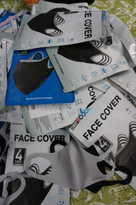 32+ Sets = 128+pc STAY COOL Face Masks (SUPER NICE QUALITY!!) #22698v (b-9-5)