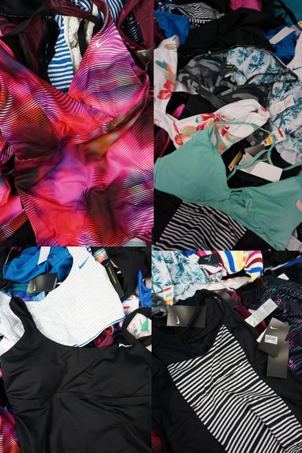 24pc GRAB BAG Reebok NIKE Roxy O'Neill TANKINI Bikini Tops #22715w (W-3-2)