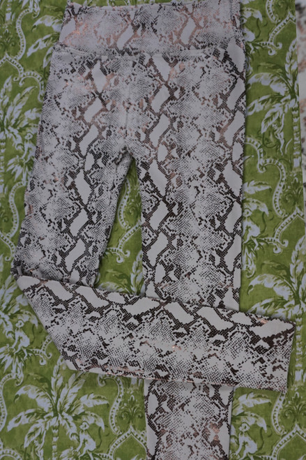 29pc Lined Leggings Snake Skin Leggings 3 COLORS #22854c (V-3-3/4)