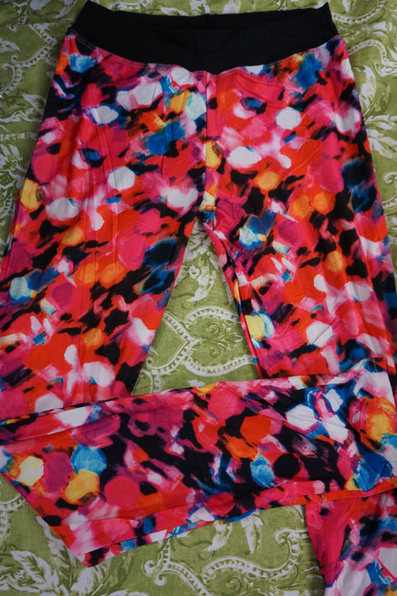 25pc Womens Floral Color Leggings #22870d (P-5-3)