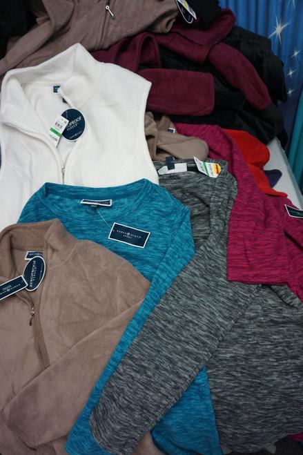 80pc Karen Scott Sport Fleece Jackets Pullovers  & Sweats #22928F (W-1/2-6)
