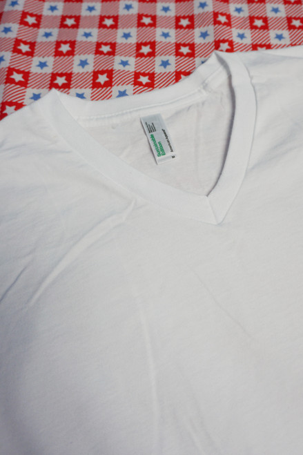 32pc AMERICAN APPAREL White Tees SMALL & MEDIUM #22972G (i-2-2)