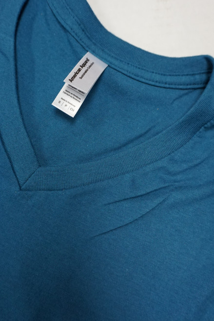 25pc Unisex AMERICAN APPAREL Tees BLUE S, M, L #22968G (F-4-2)